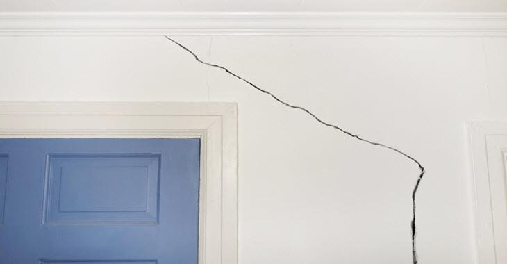 Earthquake Affected Wall